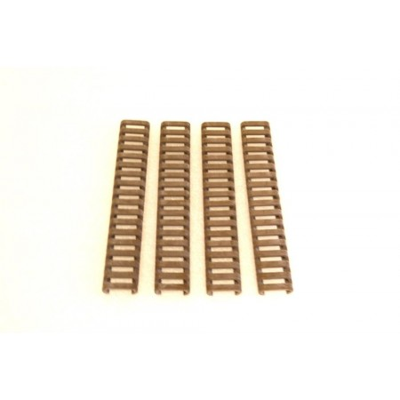 "KG 7"" Ladder Rail Covers Set of 4 FDE"