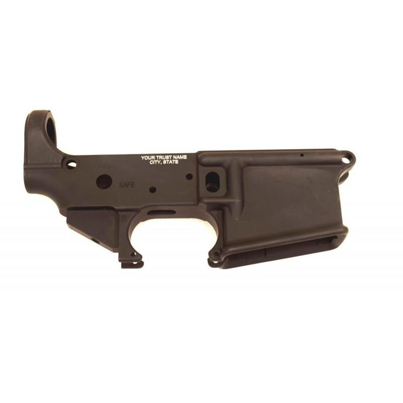 KG AR15 Stripped Lower w NFA Engraving