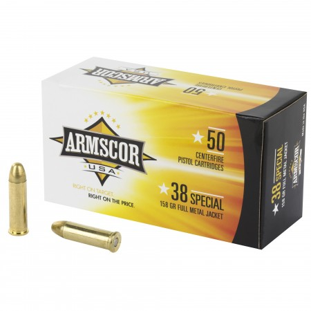 ARMSCOR 38SPL 158GR FMJ...