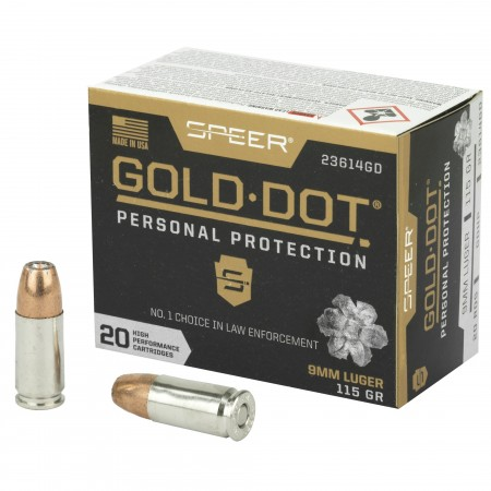 SPR GOLD DOT 9MM 115GR HP...