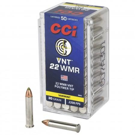 CCI 22WMR 30GR VARMINT TIP...