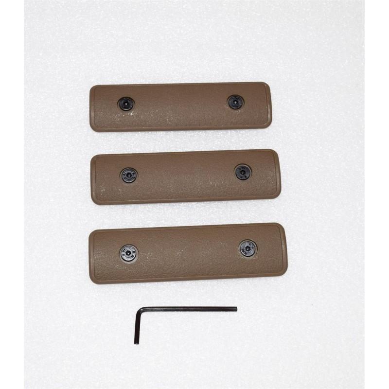 """KG 4"""" M-LOK Covers Set of 3 Tan"""