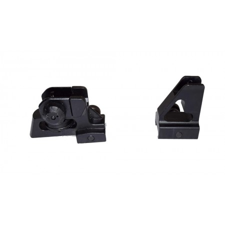 Low Profile Rail Height Front and Rear Sight Set