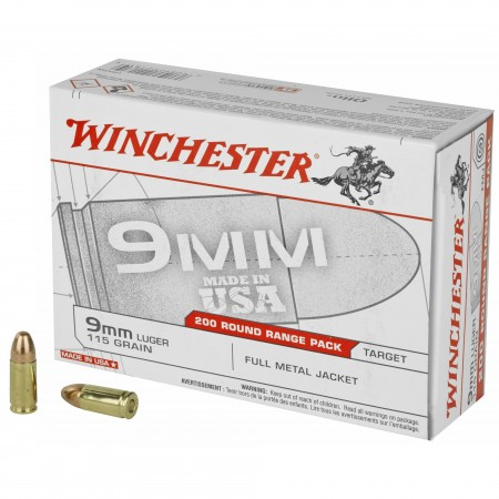 WIN USA 9MM 115GR FMJ 200/1000