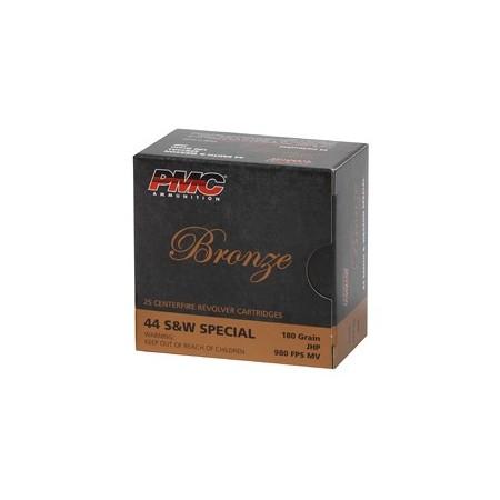 PMC BRNZ 44SW 180GR JHP 25/500